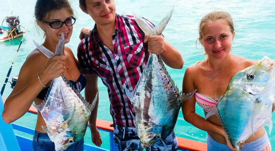 Sea day fishing