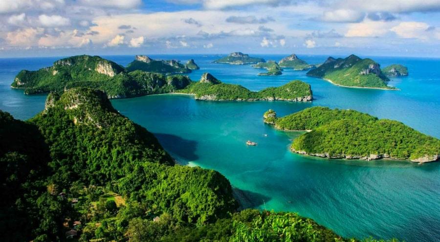 Морской парк Ангтонг на катере